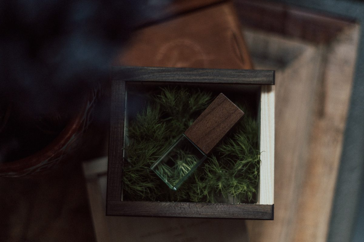 Holzbox USB Stick