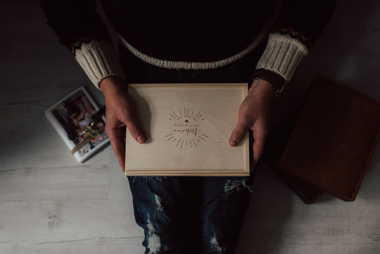 Holzbox für Fotos 13*18 ohne USB Fach