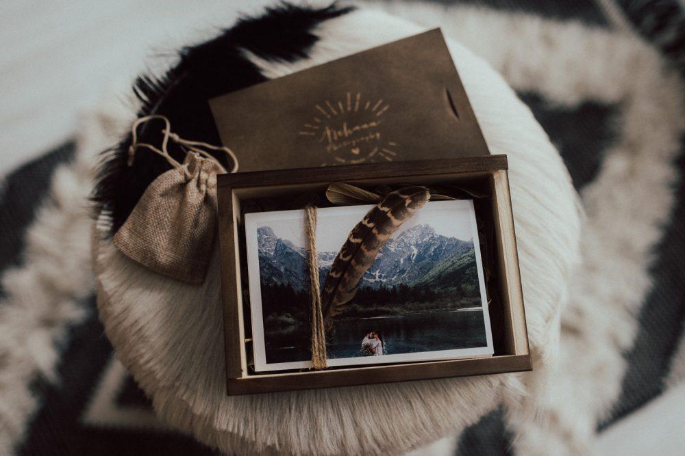 Holzbox für Fotos 10*15 ohne USB Fach