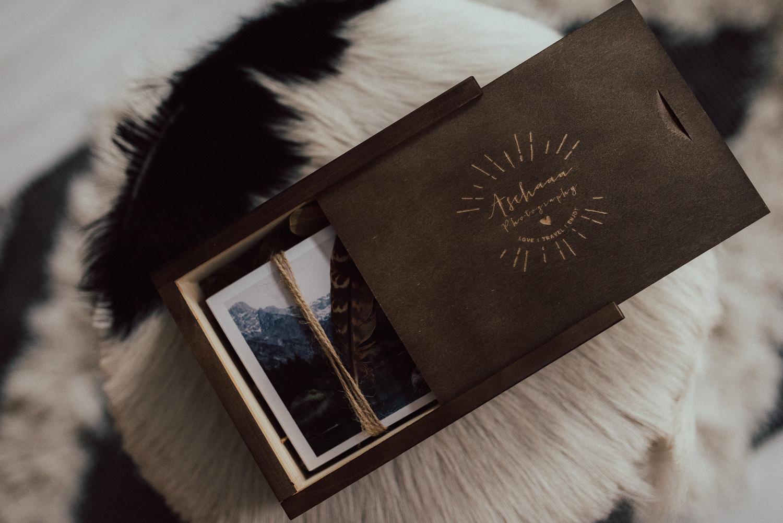 Holzschachtel für Fotos 10*15 ohne USB Fach