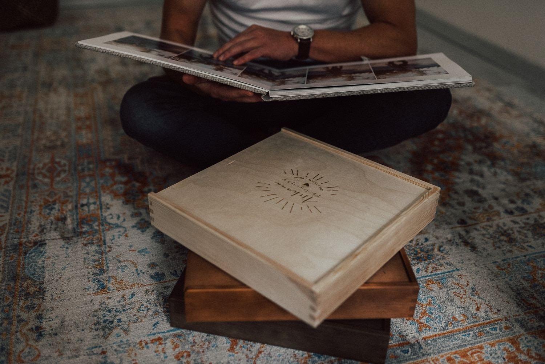 Holzschachtel für Fotobuch