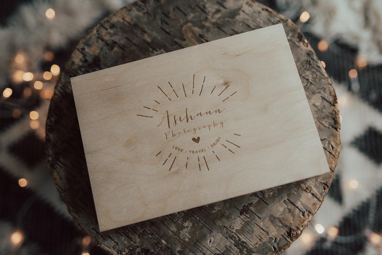 Holzbox für CD und USB Stick